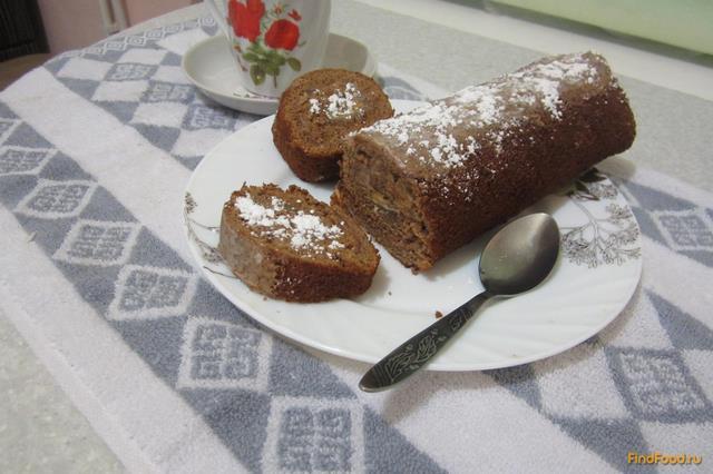 Рецепт Шоколадно-медовый рулет рецепт с фото