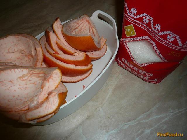 Цукаты из корок грейпфрута рецепт с фото 1-го шага