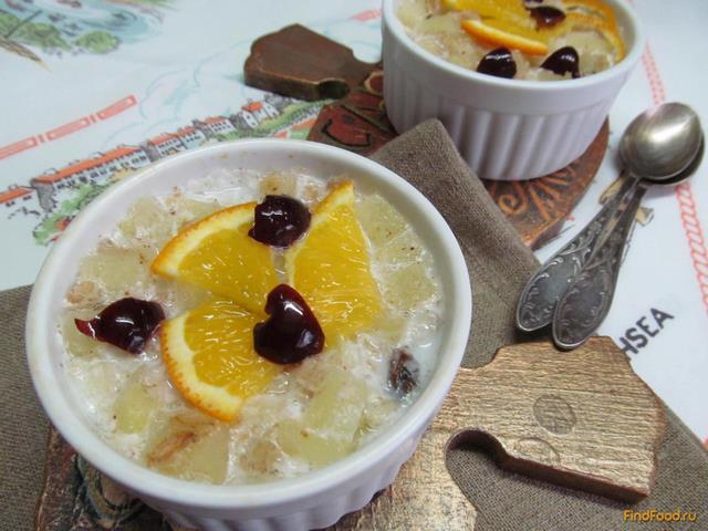 Рецепт Овсяная каша с яблоками и изюмом рецепт с фото