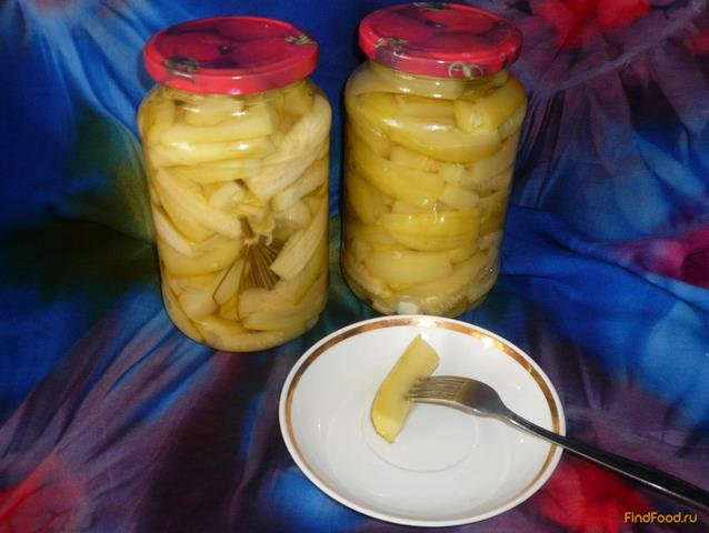 Рецепт Маринованные кабачки на зиму рецепт с фото