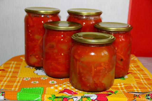 Рецепт Лечо из томатов с морковью рецепт с фото