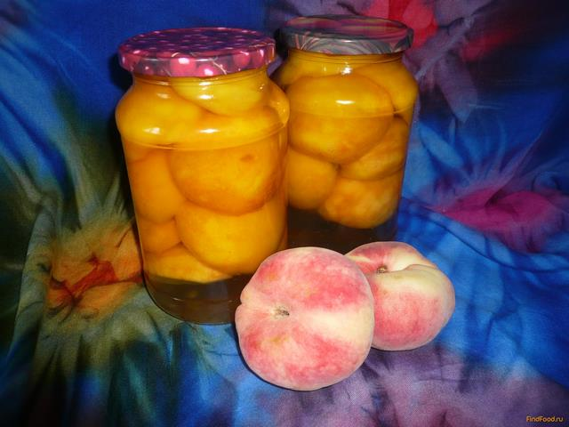 Рецепт Персики в ванильном сиропе на зиму рецепт с фото