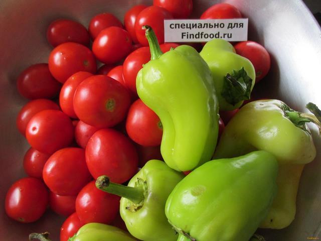 Лечо из томатов с болгарским перцем рецепт с фото 1-го шага