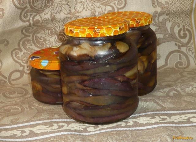 Рецепт Баклажаны в масле с чесноком на зиму рецепт с фото