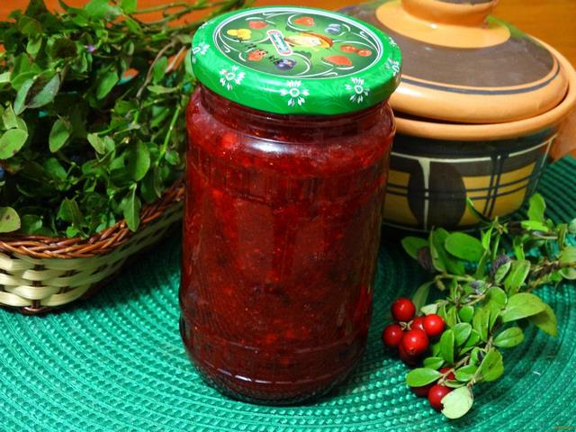 Рецепт Брусника с сахаром на зиму рецепт с фото