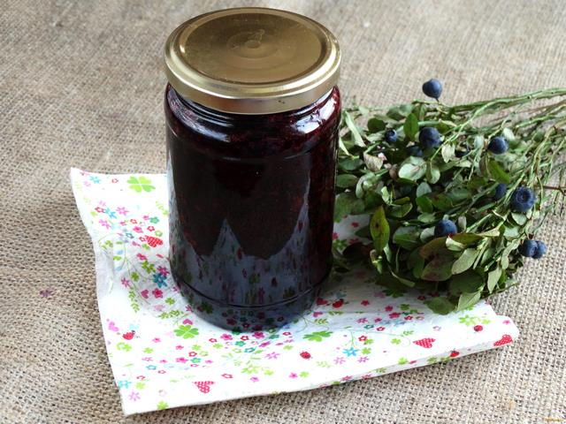 Рецепт Черника протертая с сахаром рецепт с фото
