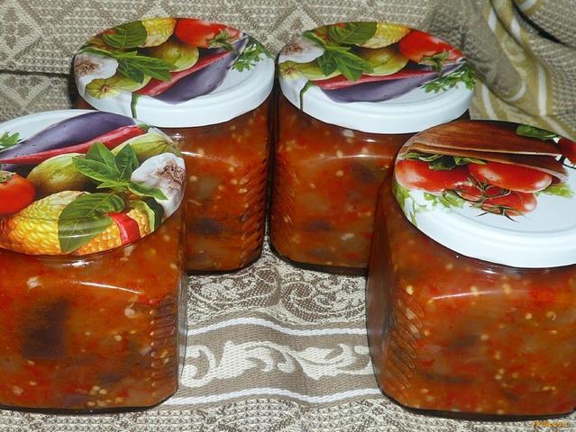 Рецепт Баклажаны в перце на зиму рецепт с фото