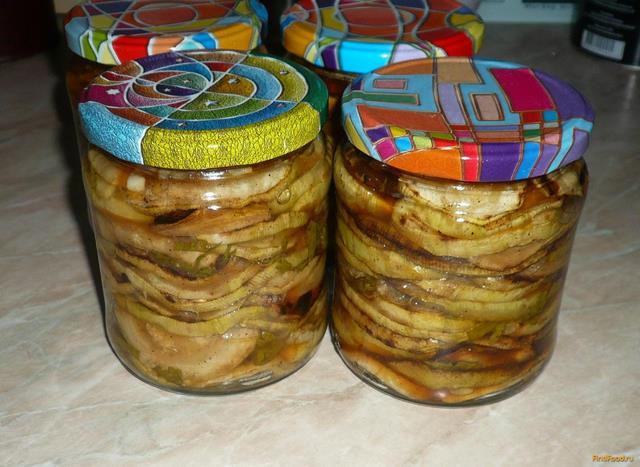 Рецепт Кабачки по - украински на зиму рецепт с фото