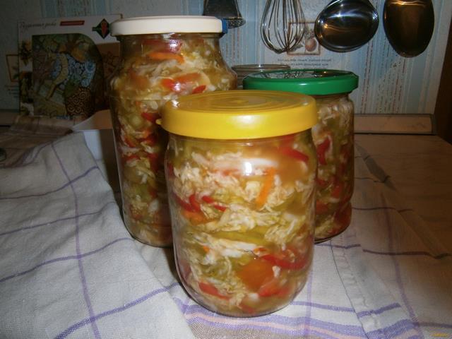 Рецепт Капуста квашеная с помидорами и сладким перцем рецепт с фото