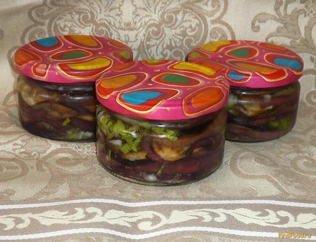 Рецепт Жареные баклажаны с петрушкой и чесноком на зиму рецепт с фото