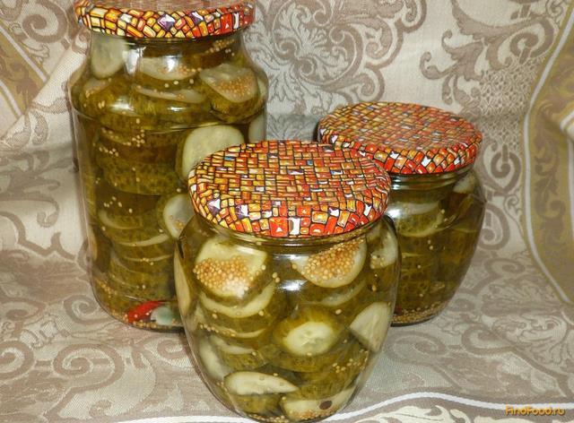 Рецепт Огурцы маринованные кружочками на зиму рецепт с фото