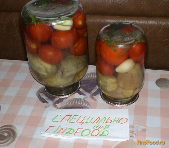 Консервация рецепт баклажанов томатов