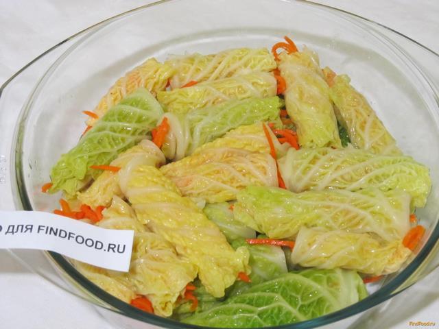 Ленивые голубцы из савойской капусты рецепт