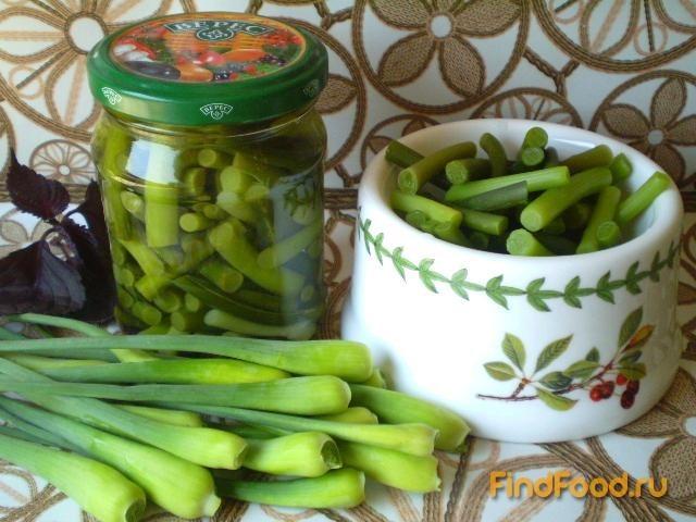 Рецепт Маринованные стрелки чеснока с базиликом рецепт с фото