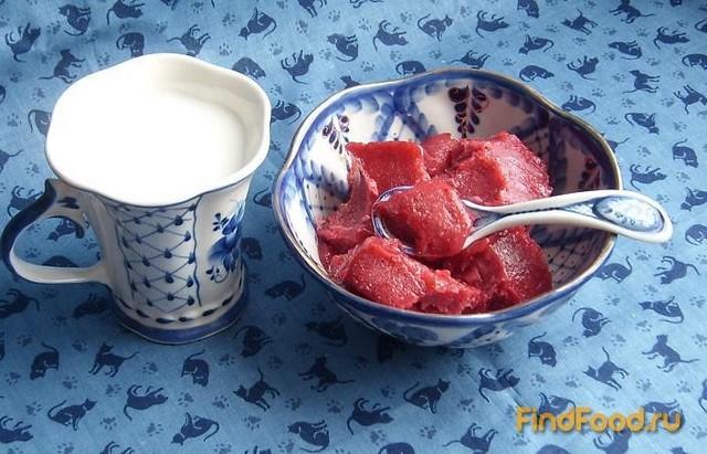 Рецепт Пюре из земляники замороженное с сахаром рецепт с фото