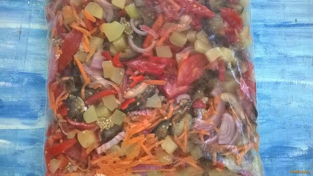 Рецепт Замороженная смесь Овощное рагу рецепт с фото