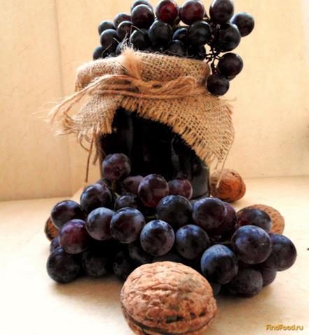 Рецепт Запеченное варенье из винограда с грецкими орехами рецепт с фото
