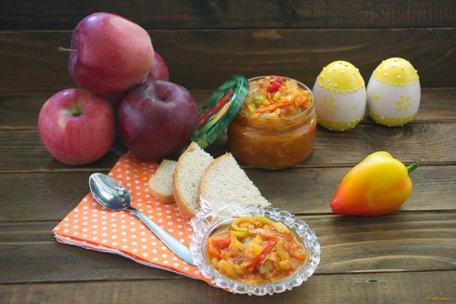 Рецепт Лечо из болгарского перца с яблоками рецепт с фото