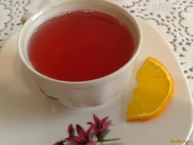 Рецепт Ягодный компот с апельсином рецепт с фото