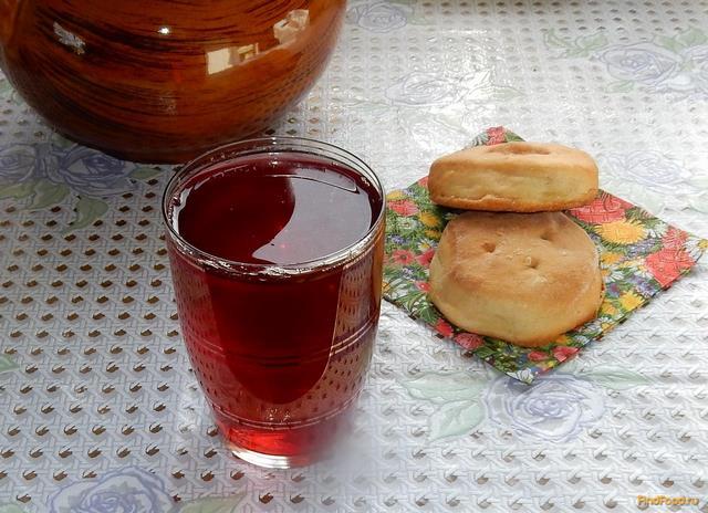 Рецепт Малиновый компот с мятой рецепт с фото