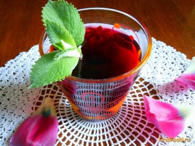 Рецепт Ягодный компот с мятой рецепт с фото