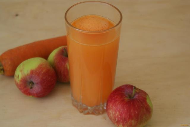 Рецепт Морковно яблочный напиток рецепт с фото