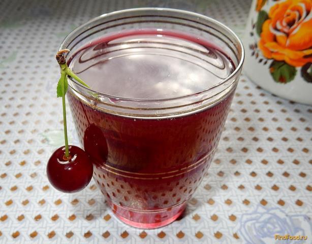 Рецепт Вишнево - малиновый компот рецепт с фото