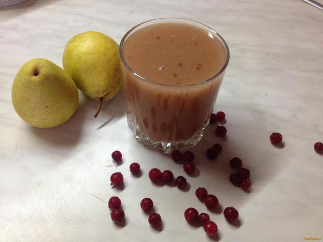 Рецепт Грушевый кисель со смородиной рецепт с фото