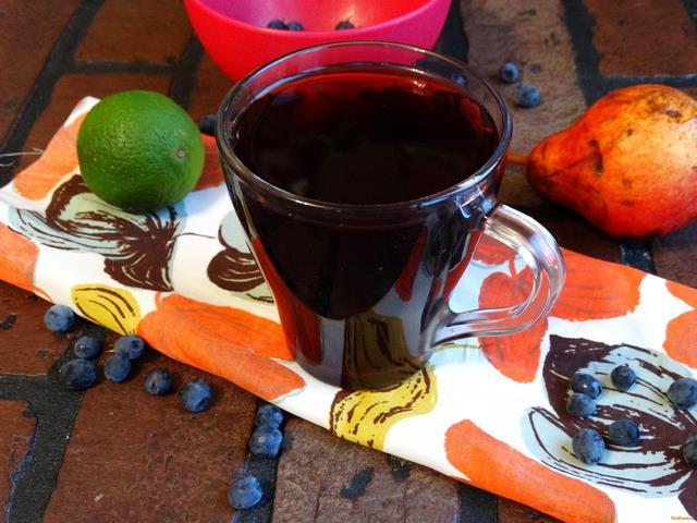 Рецепт Чернично - грушевый компот рецепт с фото