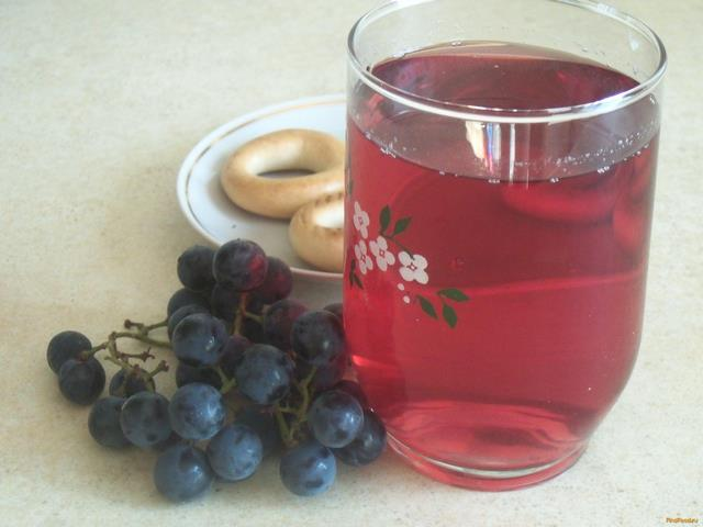 Рецепт Компот из винограда с мятой рецепт с фото