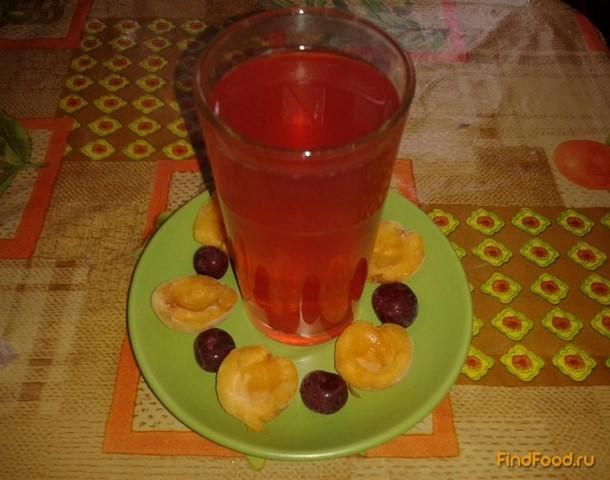 Рецепт Абрикосово-вишнёвый компот рецепт с фото