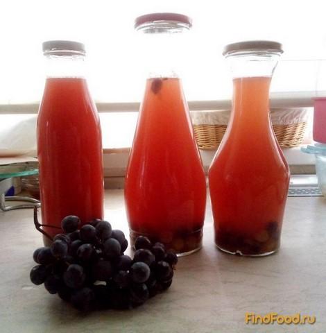 Рецепт Компот из винограда с корицей рецепт с фото