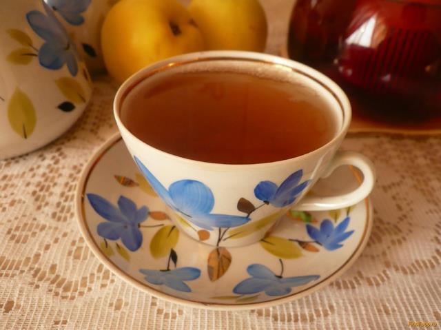 Рецепт Чай с сушеными яблоками рецепт с фото