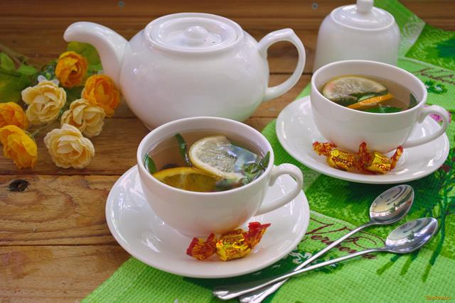 Рецепт Деревенский летний чай с ягодами рецепт с фото