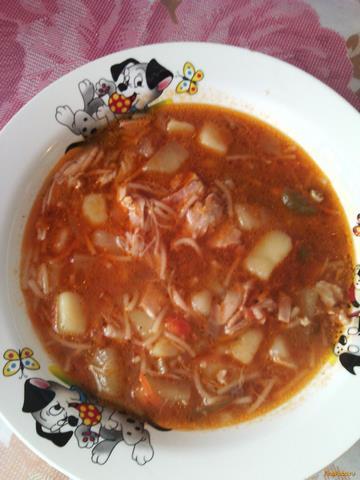 томатный суп с вермишелью рецепт с фото