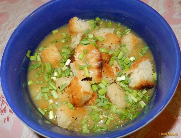 Рецепт Овощной суп-пюре с гренками рецепт с фото