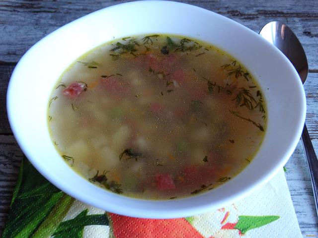 Суп с копченой колбасой рецепт с фото