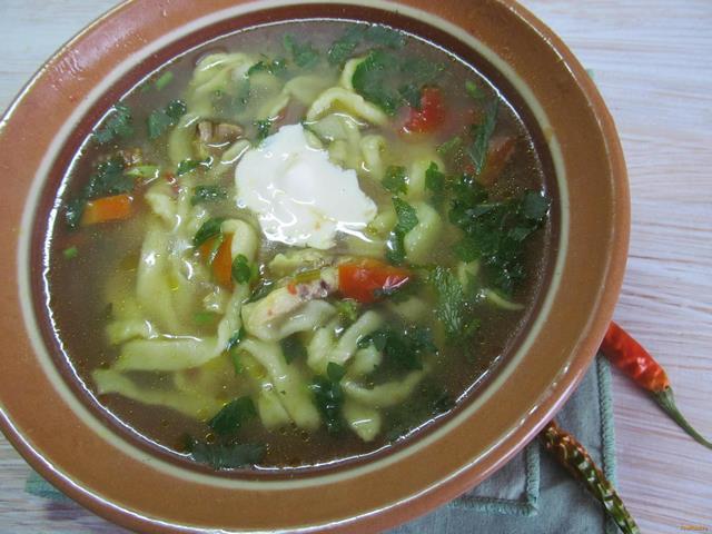Рецепт Суп из овощей и домашней лапшой рецепт с фото