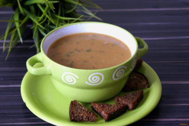 Рецепт Постный гороховый суп с гренками рецепт с фото