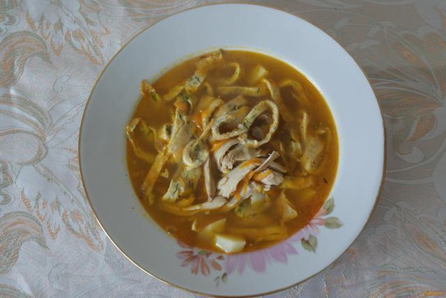куриный суп с лапшой в мультиварке рецепт фото