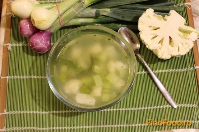 Рецепт Суп с цветной капустой и кабачком рецепт с фото