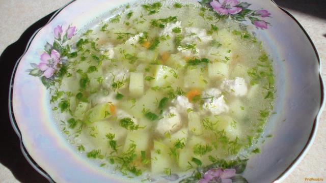 Рецепт Картофельный суп с куриными фрикадельками рецепт с фото