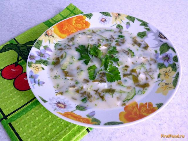 Рецепт Холодник из щавеля рецепт с фото