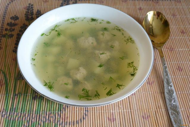Рецепт Простой суп с фрикадельками для детей рецепт с фото