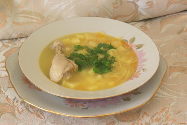 куриный суп с яичной лапшой рецепт с фото
