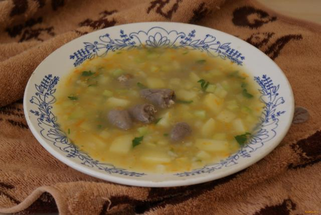 Куриный суп с сердечками рецепт пошагово
