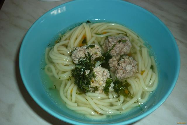 Рецепт Суп со спагетти и фрикадельками рецепт с фото