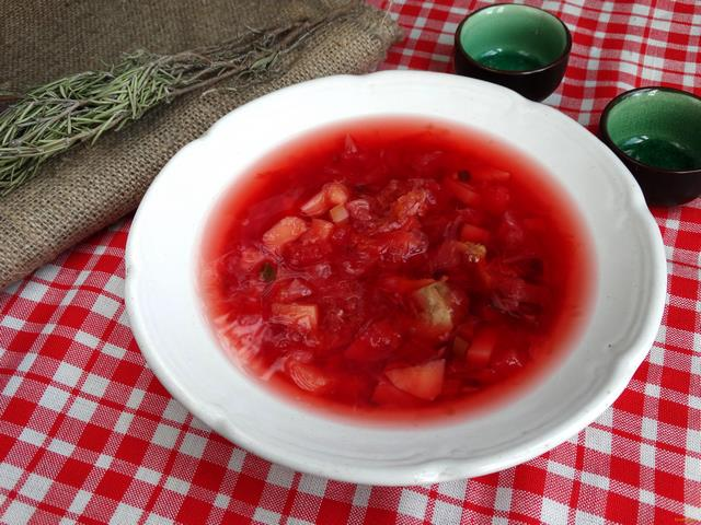 Рецепт Борщ с куриными желудочками рецепт с фото