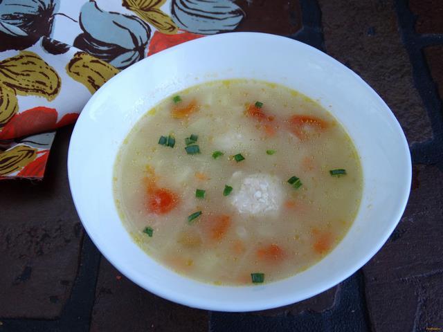 Рецепт Овсяный суп с фрикадельками и овощами рецепт с фото