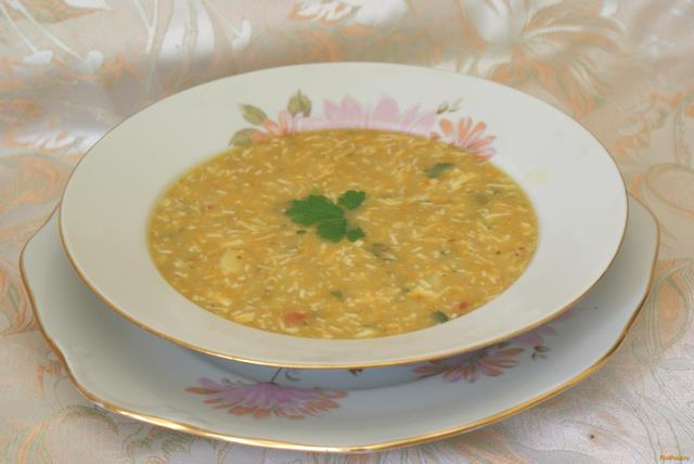 Рецепт Гороховый суп с колбасным сыром рецепт с фото
